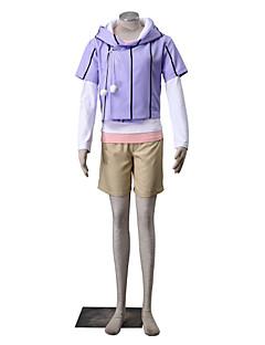 Inspirovaný Naruto Hinata Hyuga Anime Cosplay kostýmy Cosplay šaty Jednobarevné Biały / Fialová / Zielony / Růžová Dlouhé rukávyKabát /