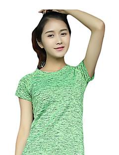 Naisten Lyhythihainen Juoksu T-paita College-pusero Nopea kuivuminen Hengittävä Hikeä siirtävä Mukava Kevät Kesä Syksy NettikauppaJooga