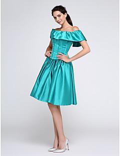 2017 ts couture® prom cocktailparty kjole bolden kjole off-the-skulder knælang satin med flæser