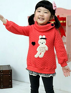 Girl's Casual/Daily Patchwork Hoodie & Sweatshirt,Rayon / Polyester Winter / Spring / Fall Pink / Red / Yellow