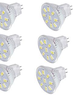 2 GU4(MR11) LED-spotlys MR11 9 SMD 5733 150 lm Varm hvid / Kold hvid Dekorativ 9-30 V 6 stk.