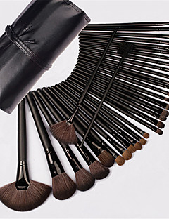 32pcs Makeup Brushes Set Horse Professional / Full Coverage / Horse Hair / Portable Wood Face / Eye / Lip Cosmetic Bag