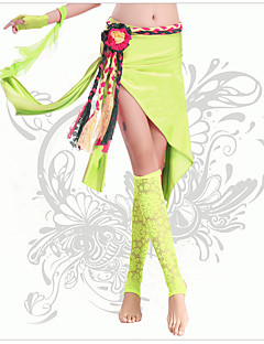 Belly Dance Bottoms Women's Performance Chinlon Pleated 1 Piece Belly Dance Sleeveless Natural Skirt
