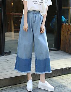 Dámské Jednoduché Džíny Bavlna Lehce elastické Kalhoty