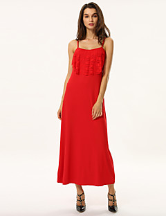 Women's Summer New Strap Solid Party Maxi Dress