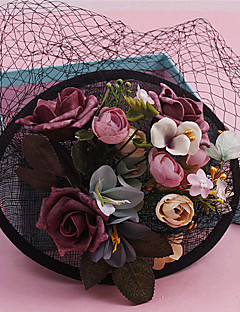Women's Lace / Fabric Headpiece-Wedding / Special Occasion Fascinators 1 Piece Clear Round 24cm