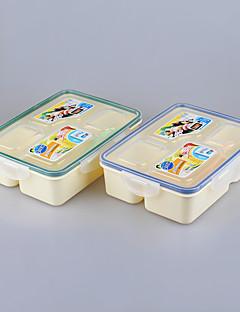 Besteckset 4 Fach Lebensmittel Lunch-Boxen Kunststoff bento Mittagessen Set 800ml