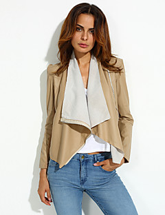 Women's Vintage Sexy Casual Work Long Sleeve Jackets , Cotton