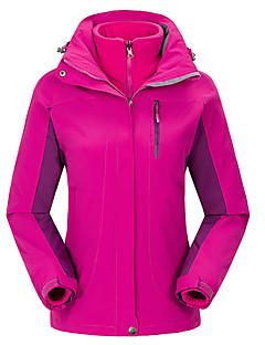 Skiklær Ski/Snowboardjakker Dame Vinterplagg Polyester Ensfarget Vinterklær Hold Varm Vindtett AnvendeligCamping & Fjellvandring Snøsport