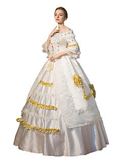 Steampunk®Georgian Gothic Renaissance Jacquard Period Dress Ball Gown Evil Witch Reenactment Theatrical  Ball Gown