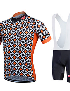 Fastcute® Cycling Jersey with Bib Shorts Women's / Men's / Kid's / Unisex Short Sleeve BikeBreathable / Quick Dry / Moisture Permeability