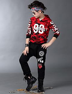 Boy's Cotton Spring/Autumn Hip-hop Show Fashion Print Tracksuit Long Sleeve Hoodie And Hallen Pants Sport Suit