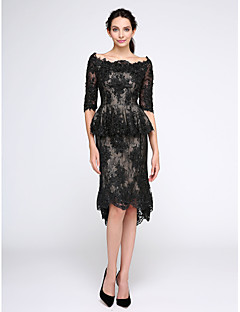 TS Couture® Cocktail Party / Homecoming / Prom Dress Sheath / Column Bateau Knee-length Lace with Appliques / Beading