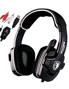Sades SA922 Cascos(cinta)ForReproductor Media/Tablet / ComputadorWithCon Micrófono / DJ / Control de volumen / Radio FM / De Videojuegos