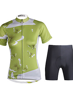 PALADIN® חולצת ג'רסי ומכנס קצר לרכיבה לנשים שרוול קצר אופנייםנושם / ייבוש מהיר / עמיד אולטרה סגול / דחיסה / חומרים קלים / 3D לוח / רצועות