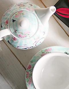 nieuwe bone china thee set kopje koffie liefhebbers gift fiets dwerg cup drie-delige keramische pot heeft singles