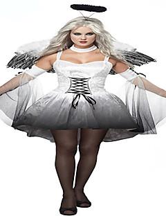 Cosplay Kostýmy Kostým na Večírek Angel & Devil Festival/Svátek Halloweenské kostýmy Bílá Černá Tisk Sukně Rukávy Křídla Doplňky do vlasů