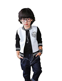 Boy's Casual/Daily Print Suit & Blazer / Jacket & Coat,Polyester / Others Spring / Fall White