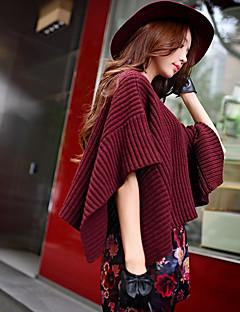 dabuwawa kvinner går ut / casual / ferie vintage / punk / sofistikert vanlig genser, runde neck½ lengde