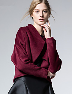 ARNE® Dames Ronde hals Lange mouw Wool & Blends Zilver-D5015