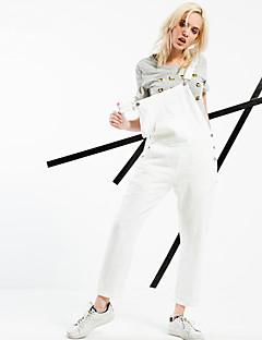 ARNE® Kadın Yüksek Bel Kotlar Fildişi Günlük Pantolon-6228