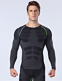 Sports Cycling Jersey Men's Long Sleeve Bike Breathable / Thermal / Warm / Insulated / Comfortable Tops Nylon / Chinlon Classic