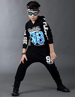 Boy's Cotton Spring/Autumn Hip-hop Fashion Print Sport Suit Long Sleeve Shirt And Hallen Pants Tracksuit Two-piece Set