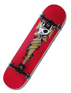 klassische Skateboard (53 * 36mm) rot / grün
