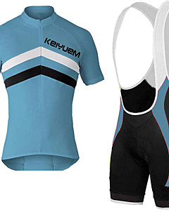 KEIYUEM® Cycling Jersey with Bib Shorts Unisex Short Sleeve BikeBreathable / Quick Dry / Dust Proof / Wearable / Compression / Back