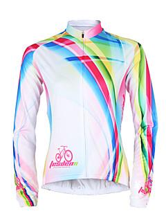 TASDAN Cyklodres Dámské Dlouhé rukávy Jezdit na kole Dres Vrchní část oděvu Rychleschnoucí Odolný vůči UV záření Prodyšné Ter Emen100%