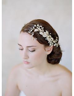 נשים סגסוגת דמוי פנינה כיסוי ראש-חתונה אירוע מיוחד קז'ואל סרטי ראש מסרקי שיער פרחים שרשרת ראש כלי לשיער חלק 1