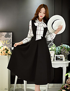 dabuwawa Frauen Ausgehen / casual / Vintage / netter Mantel / Schwingenkleid, feste Riemen midi ärmellos