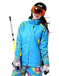 Skiklær Ski/Snowboardjakker Dame Vinterplagg Bomull / Polyester Blomster / botanikk Vinterklær Hold Varm / VindtettSki / Snøsport /
