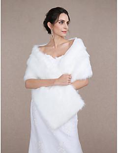 Acessórios de Pêlo / Wraps casamento Xales Sem Mangas Pelo Artificial / Penas / Pelo Marfim Casamento / Festa