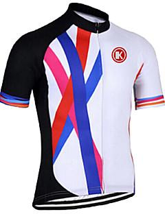 KEIYUEM® Cycling Jersey Unisex Short Sleeve BikeBreathable / Quick Dry / Ultraviolet Resistant / Front Zipper / Antistatic / Back Pocket