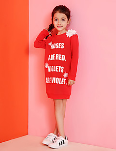 Girl's Casual/Daily Print Blouse / Hoodie & Sweatshirt,Cotton Winter / Spring / Fall Red