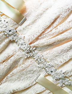 새틴 웨딩 / 파티/이브닝 / 일상복 창틀-스팽글 / 비즈 / 아플리케 / 모조 다이아몬드 여성 98 ½인치(250cm) 스팽글 / 비즈 / 아플리케 / 모조 다이아몬드