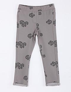 女の子の カジュアル/普段着 フラワー コットン,パンツ 秋 ブラウン