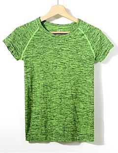 Mulheres Manga Curta Corrida Camiseta Pulôver Secagem Rápida Respirável Compressão Redutor de Suor Primavera Verão Outono Moda Esportiva