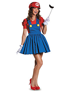 Costumes More Costumes Halloween Red / Green Patchwork Terylene Dress / More Accessories