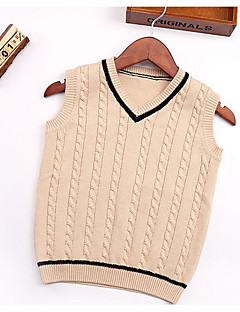 Girl's Casual/Daily Striped Sweater & CardiganCotton Winter / Spring / Fall Orange / Red / Beige