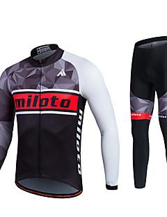 Miloto® Calça com Camisa para Ciclismo Homens / Unissexo Manga Comprida MotoRespirável / Secagem Rápida / Permeável á Humidade / Tapete