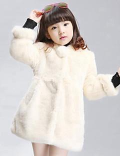 Casual/Dagelijks-Effen-Polyester-Winter-Girl's-Dons & Katoen voering / Kostuum & Blazer-Rood / Beige