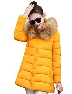 Dámské Jednoduché / Šik ven Polyester Dlouhý kabát Kabát Dlouhý rukáv
