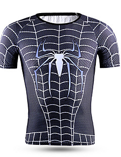 Sports Cycling Jersey Men's Short Sleeve Bike Quick Dry / High Breathability (>15,001g) / Comfortable Tops Terylene Classic Summer