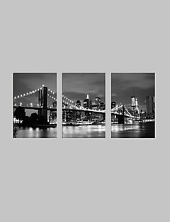 visuaalinen star®black ja valkoinen London Bridge Canvastaulu kuuluisa modernin seinälle valmis roikkua