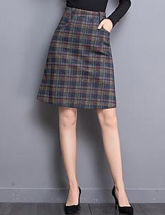 Damen Röcke - Retro Übers Knie Polyester Unelastisch