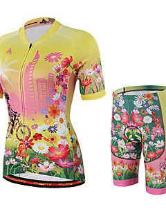 Miloto® Cycling Jersey with Shorts Women's Short Sleeve Bike Breathable / Quick Dry / Moisture Permeability / YKK Zipper / Sweat-wicking