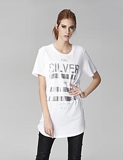 Herz Soul® Damen Rundhalsausschnitt Kurze Ärmel T-Shirt Weiß-24AD23407