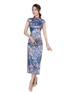 Badpak/Jurken Cosplay Lolitajurk Bloemen  Korte Mouw Lange Lengte Voor Polyester
